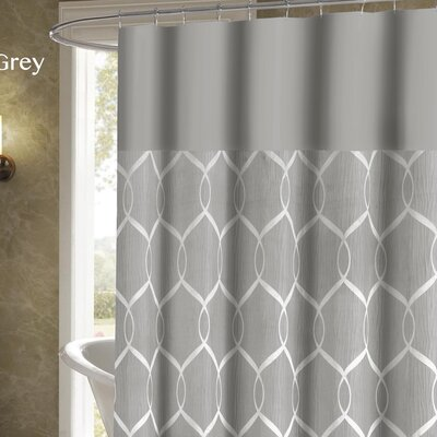 Holcomb Wrinkle Wave Shower Curtain Color: Gray