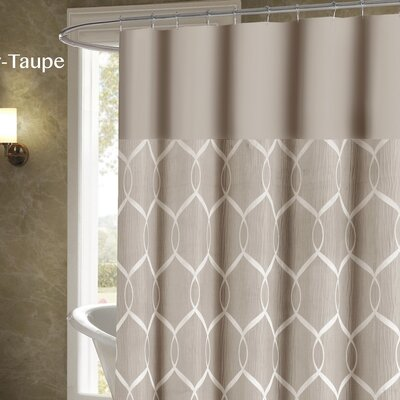 Holcomb Wrinkle Wave Shower Curtain Color: Taupe