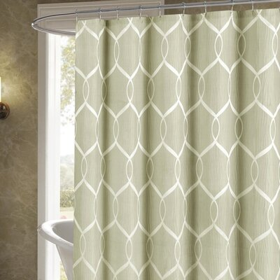 Holcomb Wrinkle Wave Fabric Shower Curtain Color: Taupe
