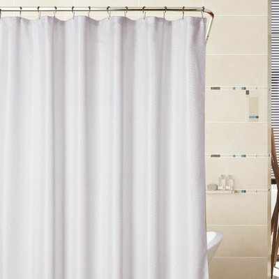 Sherry Mosaic Weave Shower Curtain Color: White