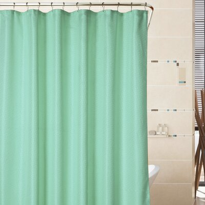 Sherry Mosaic Weave Shower Curtain Color: Spa Green