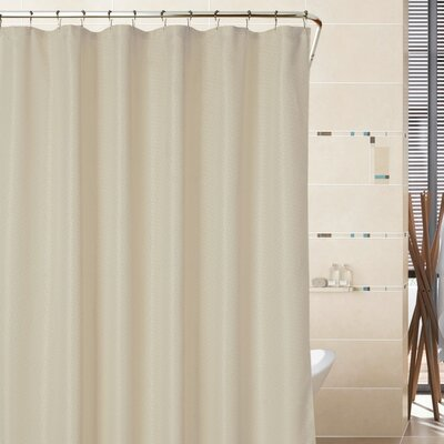 Sherry Mosaic Weave Shower Curtain Color: Champagne