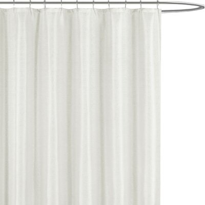 Breton Shower Curtain Color: White