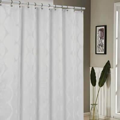 Blackburn Shower Curtain Color: White