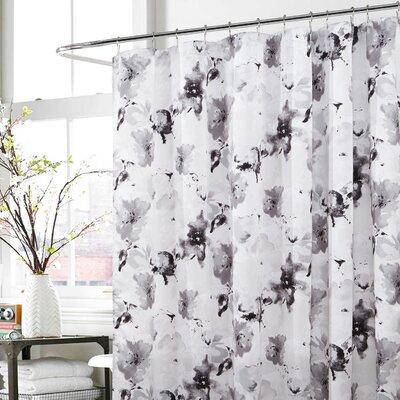Deborah Shower Curtain Color: Gray