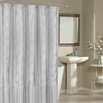 Birch Creek Shower Curtain Color: Silver