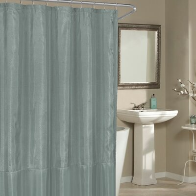Birch Creek Shower Curtain Color: Spa Blue