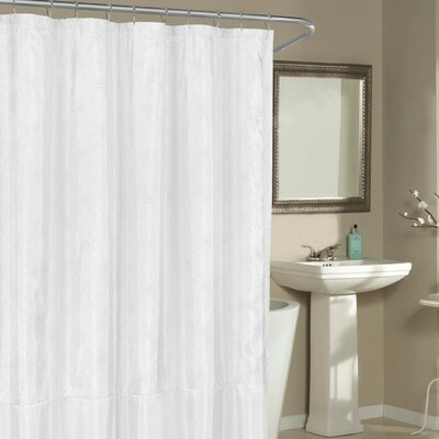 Birch Creek Shower Curtain Color: White