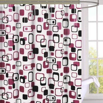 Madden Magenta Peva Shower Curtain Set