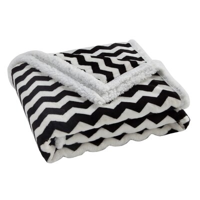 Lorene Sherpa Throw Color: Black/White