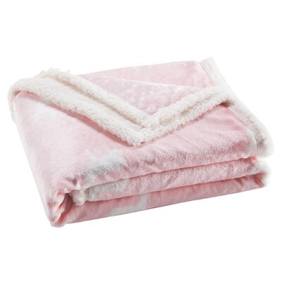 Delancy Sherpa Throw Color: Bubble Gum Pink