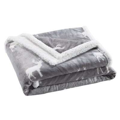 Delancy Sherpa Throw Color: Gray