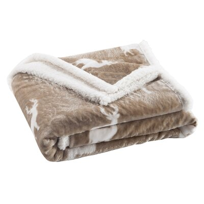 Delancy Sherpa Throw Color: Taupe