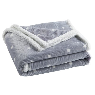 Brandan Sherpa Throw Color: Silver