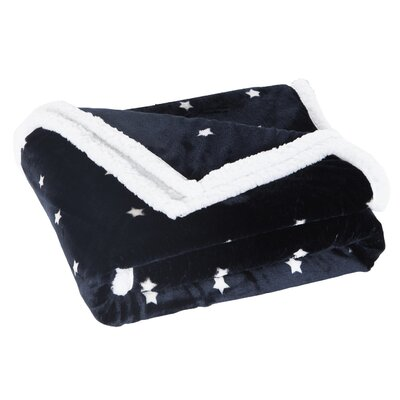Brandan Sherpa Throw Color: Navy