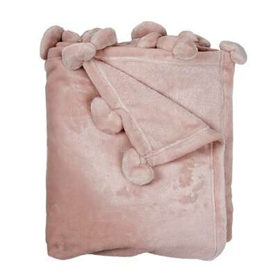 Weissinger Solid Pompom Throw Color: Pretty Pink