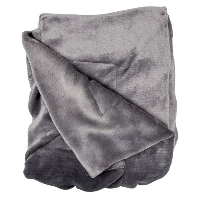 Weissinger Pintuck Throw Color: Dark Gray