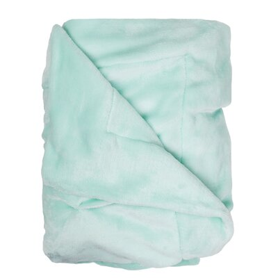 Weissinger Pintuck Throw Color: Seafoam