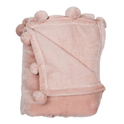 Weissinger Pompom Throw Color: Pretty Pink