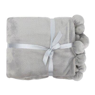 Weissinger Pompom Throw Color: Gray