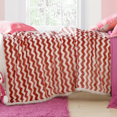 Lorene Sherpa Throw Color: Apricot Brandy