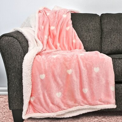 Thaddeus Sherpa Throw Color: Bubble Gum Pink