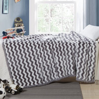 Lorene Sherpa Throw Color: Gray