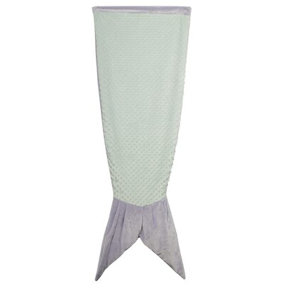 Postfield Mermaid Blanket Color: Purple- Mint