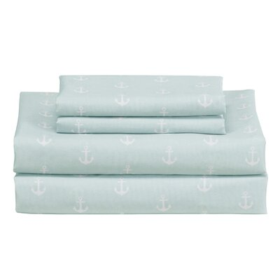 Anabella Sheet Set Color: Seafoam/White, Size: Full