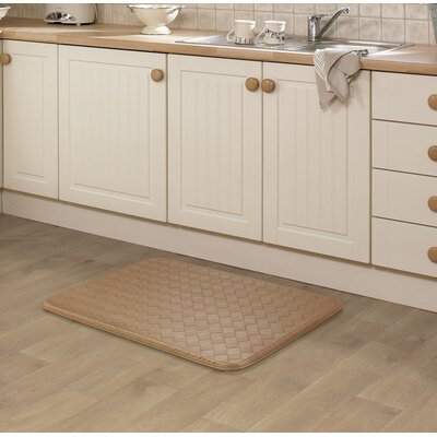 Kipp Basket Weave Kitchen Mat Color: Mocha