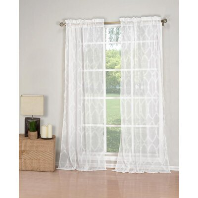 Attlia Polyester Shower Curtain Color: White