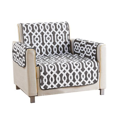 Reversible Waterproof Microfiber T-cushion Armchair Slipcover Upholstery: Gray , Size: 75 H x 69 W x 2 D