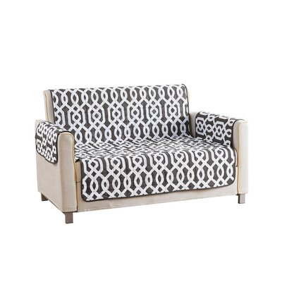 Reversible Waterproof Microfiber T-cushion Armchair Slipcover Upholstery: Gray , Size: 75 H x 92 W x 2 D