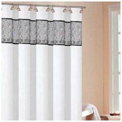 Black Fabric Shower Curtain | Wayfair