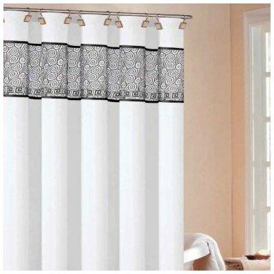 black fabric shower curtain wayfair rania shower curtain in white