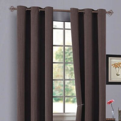 DR International Urban Hotel Chenille with Grommets Panel in Chocolate - UHGCO 12 7540