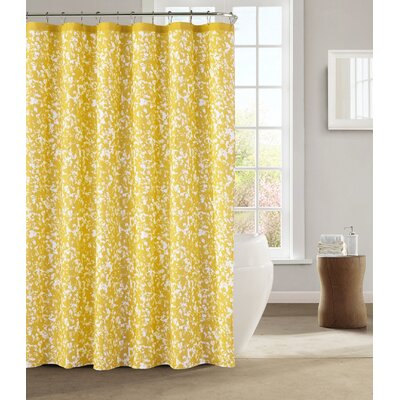 Susie Shower Curtain Color: Yellow