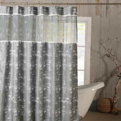 Ella Shower Curtain Color: Gray