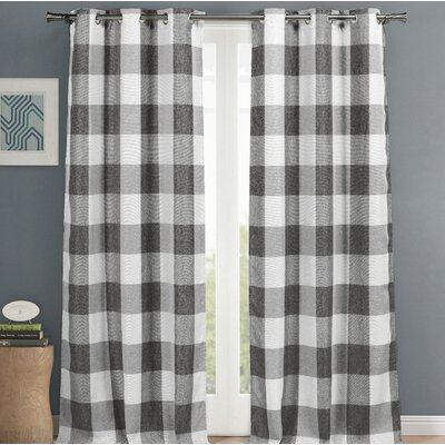 Rosenblum Plaid and Check Blackout Thermal Grommet Curtain Panels