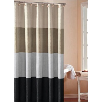 DR International Hampton Hotel Color Block Shower Curtain in Silver - HHSSL 12 9425