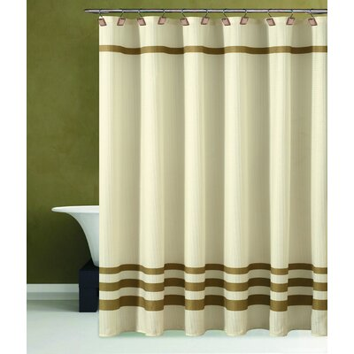 Bleecker Shower Curtain Color: Beige / Gold
