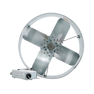 Gable Mount Attic Fan with Adjustable Thermostat