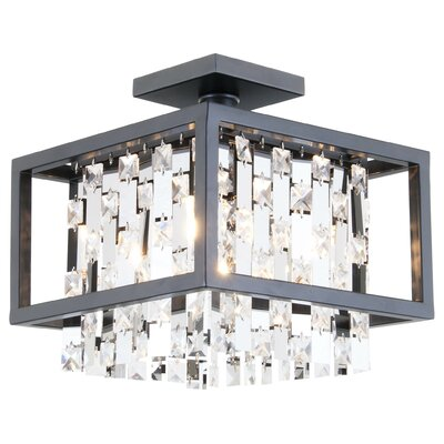 Amethyst 4-Light Semi Flush Mount
