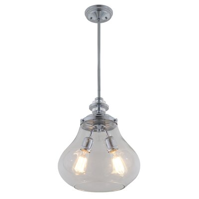 El Dorado 2-Light Schoolhouse Pendant