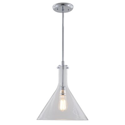 Claire 1-Light Pendant Finish: Buffed Nickel