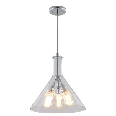 Claire 3-Light Pendant Finish: Chrome