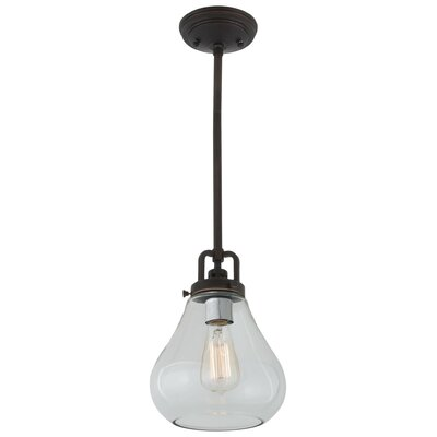 Coronado 1-Light Mini Pendant Shade Color: Clear, Finish: Satin Nickel