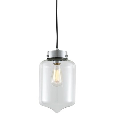 Alexa 1-Light Mini Pendant Shade Color: Clear Glass