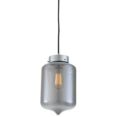 Alexa 1-Light Mini Pendant Shade Color: Smoke Glass