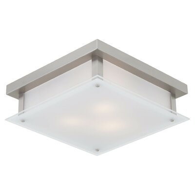 Helios 3-Light Flush Mount Finish: Buffed Nickel